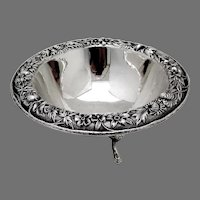 Repousse Footed Bowl No 215 Kirk Son Inc Sterling Silver