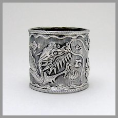 Chinese Export Silver Dragon Napkin Ring