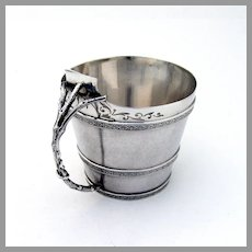 Aesthetic Cup Branch Form Handle Gorham Sterling Silver 1870 Mono