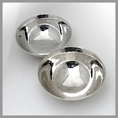 Arts And Crafts Bowls Pair Arthur Stone Sterling Silver 1920s
