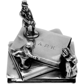 Stack Of Books Figural Paper Weight Sterling Silver Mono APK