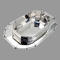 Jean Puiforcat Serving Bowl Attached Rim Sterling Silver France