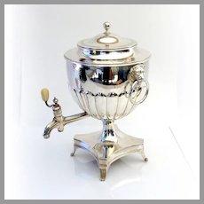 English Hot Water Kettle Samovar Bateman Sterling Silver 1803