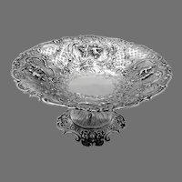 Ornate Openwork Compote Hanau German 800 Silver