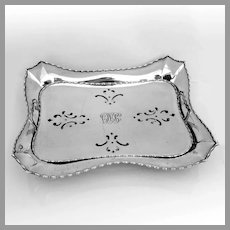Tiffany Marquise Asparagus Tray Sterling Silver 1902 Mono JAO