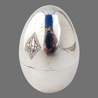 Egg Form Case 3 Shot Set Japanese Sterling Silver Mono JEB