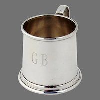 Tiffany Small Cup Mug Sterling Silver Mono GB