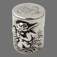 Loves Dream Thread Holder Unger Brothers Sterling Silver Mono LMG