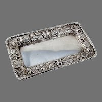 Repousse Pin Tray Kirk Son Inc Sterling Silver Hand Decorated