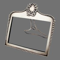 Beaded Picture Frame Wreath Motif Shiebler Sterling Silver