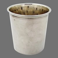 French Mint Julep Cup 950 Sterling Silver No Mono
