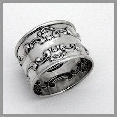 Strasbourg Napkin Ring  Gorham Sterling Silver 1950 No Mono