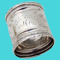 Aesthetic Napkin Ring Coin Silver Mono M