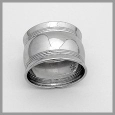 Triple Banded Napkin Ring Gorham Sterling Silver No Mono