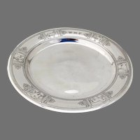 Tiffany Baby Plate Acid Etched Animal Designs Sterling Silver Mono WMF