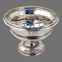 Tiffany Swing Handle Basket Sterling Silver 1853 Mono LPB