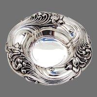 Art Nouveau Floral Bowl Alvin Sterling Silver No Mono