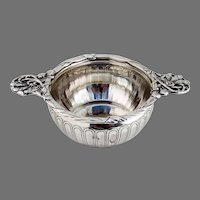 Ornate Double Handled Bowl French Sterling Silver