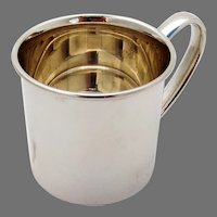 Plain Design Baby Cup Lunt Sterling Silver No Mono