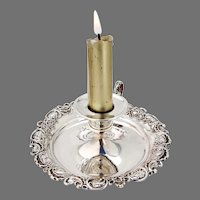 Pompadour Chamberstick Whiting Sterling Silver 1895 Mono KML