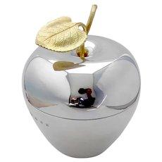Tiffany Large Apple Box Gilt Leaf Sterling Silver London 1987