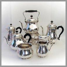 Queen Anne 7 Piece Tea Coffee Set Tiffany Sterling Silver No Mono