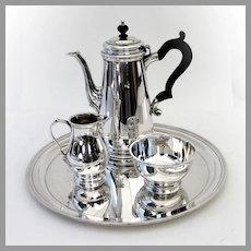 Tiffany 3 Piece Coffee Set Tray Sterling Silver No Mono