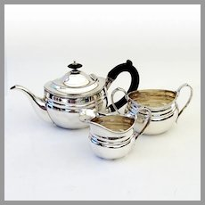 Tiffany Small Three Piece Coffee Tea Set Sterling Silver No Mono