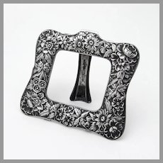 Repousse Picture Frame Kirk Son Sterling Silver