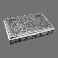 Ornate Persian Box 84 Standard Silver