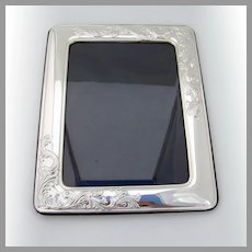 Large Picture Frame Scroll Designs Sterling Silver Italy