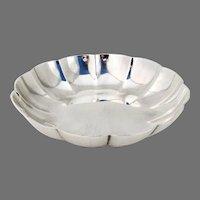 Tiffany Scalloped Round Bowl Sterling Silver No Mono