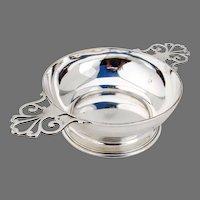 Tiffany Double Handled Porringer Bowl Sterling Silver Mono LHJ