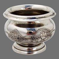 Russian Open Salt Cellar 84 Standard Silver 1872 Moscow