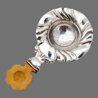 Tea Strainer Austrian Silver Wooden Handle