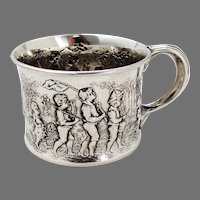 Follow The Leader Baby Cup Gorham Sterling Silver 1890 Mono