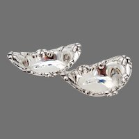 Floral Nut Cups Pair Alvin Sterling Silver No Mono