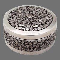 Jogja Indonesian Ornate Round Box 900 Silver