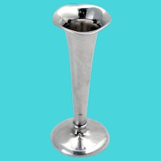 Trumpet Bud Vase Mauser Sterling Silver Weighted Base 1940