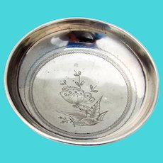 Aesthetic Engraved Footed Bowl Gorham Sterling Silver 1879 Mono