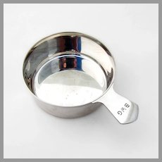 Tiffany Porringer Baby Bowl Tab Handle Sterling Silver Mono BWG