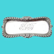 Ornate Pin Tray Whiting Sterling Silver Mono ELT