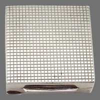 Square Pill Box 800 Silver