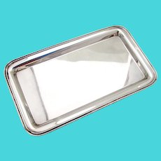 Rectangular Dresser Tray Revere Sterling Silver No Mono
