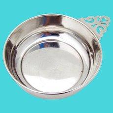 Porringer Bowl Keyhole Handle Sterling Silver No Mono