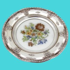 Rose Point Serving Tray Wallace Sterling Silver Needlepoint Design