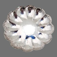 Fluted Hammered Bowl Austrian 800 Silver