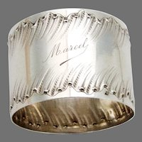 French Napkin Ring Sterling Silver Mono Marcel
