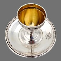 Egg Cup French Sterling Silver Mono HD