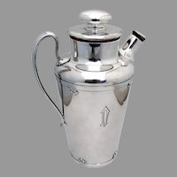 Arts Crafts Martini Cocktail Shaker International Wilcox Silverplate 1915